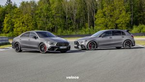 Mercedes-AMG A 45 S 4MATIC+ und CLA 45 S 4MATIC+ (2019)Mercedes-AMG A 45 S 4MATIC+ and CLA 45 S 4MATIC+ (2019)