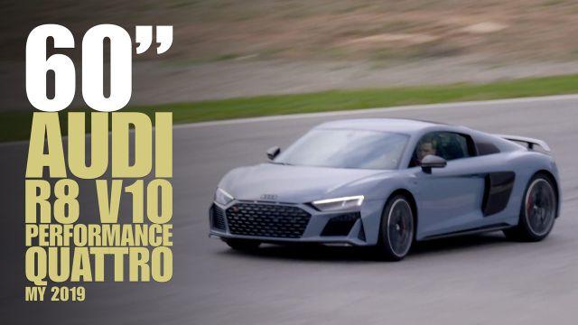 Il suono in pista della nuova Audi R8 Performance quattro
