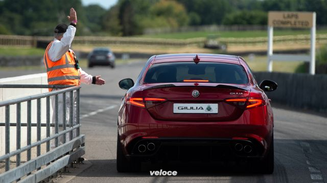 Sulla pista del Goodwood Revival con l'Alfa Romeo
