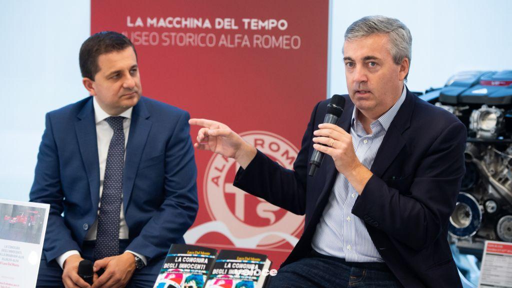 Lorenzo Ardizio, curatore Museo Storico Alfa Romeo & Luca Dal Monte, autore de 'La congiura degli innocenti'