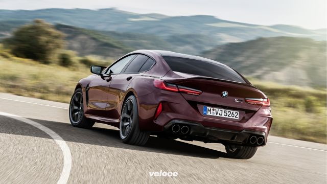 BMW M8 Gran Coupe: 625 cv e drift mode