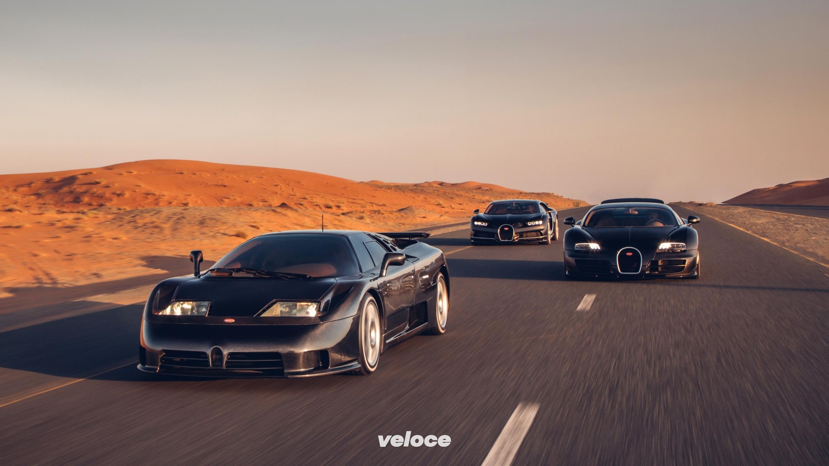 Bugatti: tre decenni di hypercar in foto