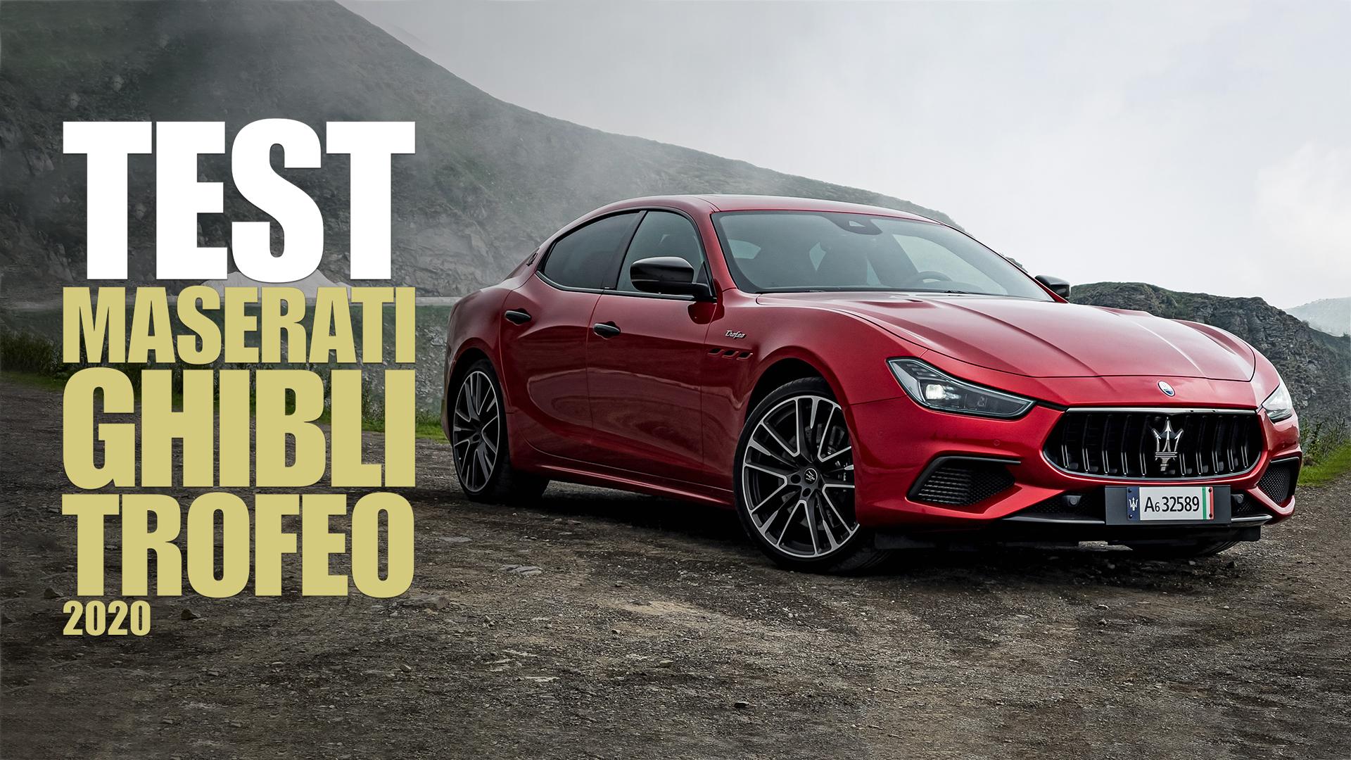 Maserati Ghibli Trofeo: una (rumorosa) lettera d'addio